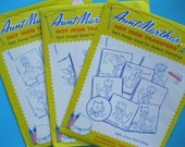 Set of Three Aunt Martha's Transfers - Days of the Week - 3502, 3733, 3419 - complete