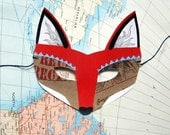 Fox Mask, Woodland Forest Party or Wedding Favor