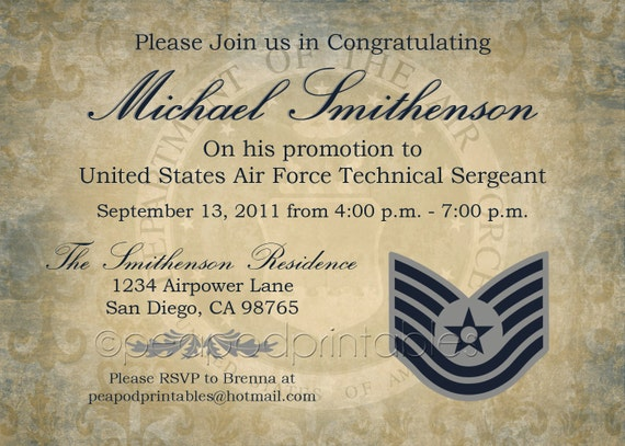 Navy Retirement Invitation as awesome invitations template