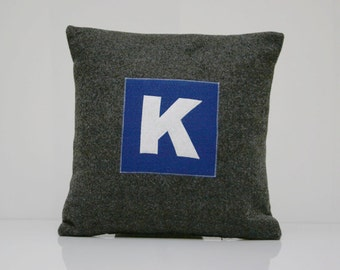 Monogram K Pillow Cover - Ready To Ship