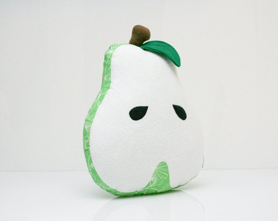Sale - 60% Off - Pear Pillow - Decorative Pillow