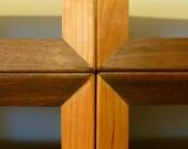 Custom Shelf Shelving Shelves Walnut, Cherry, Maple Mid Century Modern Floating Wood Wall Shelves