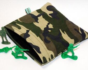 Reusable Snack Bag - Reusable Sandwich Bag - Camouflage