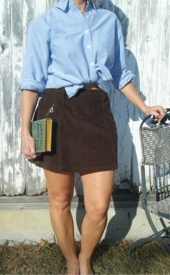 5 Brown Corduroy Skirt