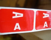 Letter A Labels for Scrapbooking/Altered Art/Assemblage