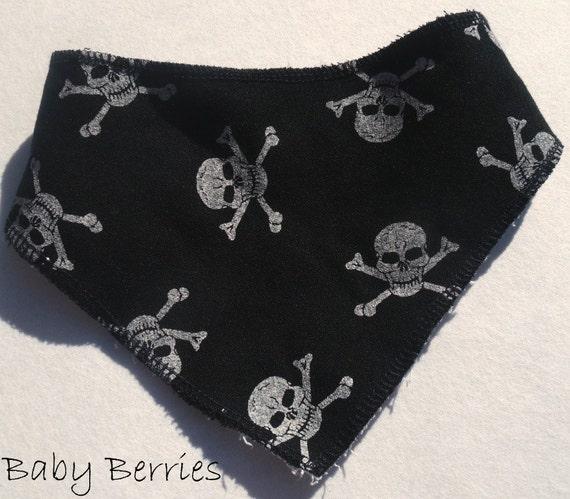 Baby bib - Skull and Cross Bone, Bandana