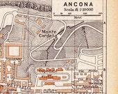 Ancona  Vintage Street Map, Italian city maps