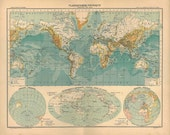 World Map Vintage 1899