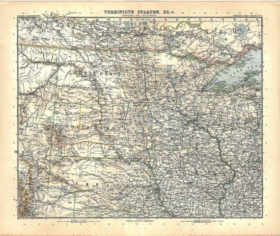 Items Similar To Vintage US Map United States North