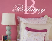 Monogram Name  Vinyl Wall Decal  TONS OF MONOGRAMS see our store