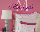 Monogram Childrens Name Personalized Initial Vinyl Wall Decal  TONS OF MONOGRAMS see our store