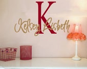 Wall Decal Monogram Childrens Vinyl Wall Decals