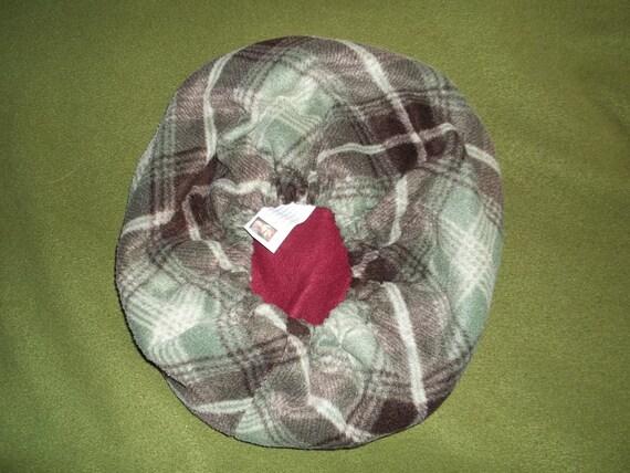Medium Green Plaid Bed/Bag for Ferrets and exotics, small animals
