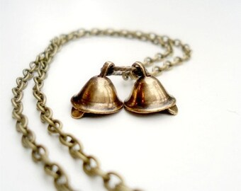 Wedding Bell Necklace Flower Girl Jewelry Unique Handcrafted Jewellery By Pretty Little Pretties Christmas Brass