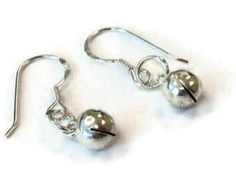 Bell Earrings - Sterling Silver Earrings - Children Earrings - Children Jewelry - Bell Jewelry