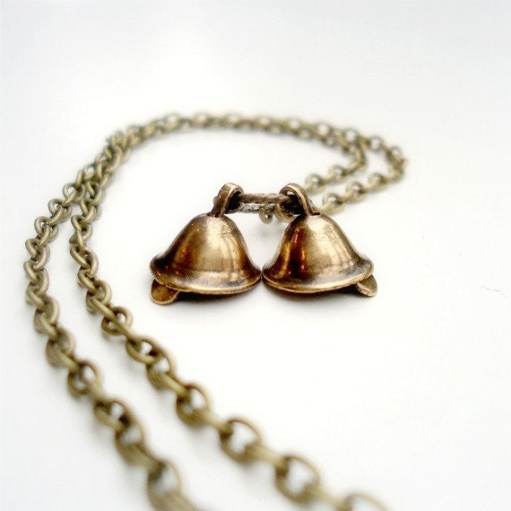 wedding bell necklace flower jewelry by