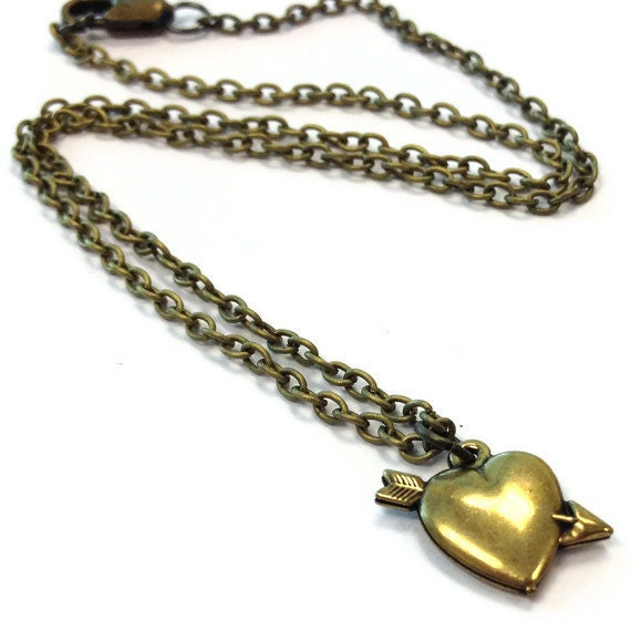 Children's Heart Necklace Brass Jewelry Chain Arrow Everyday Fashion Love Jewellery Flower Girl Wedding Dainty