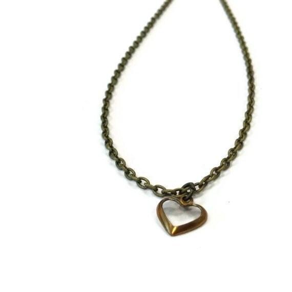 Flower Girl Necklace Wedding Jewelry Brass Jewellery Heart Pendant Children Fashion Love
