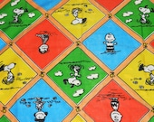 Vintage Peanuts Gang Twin Bed Sheet Set and Pillow Case