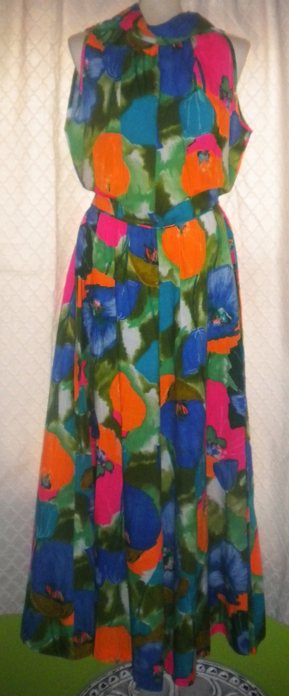 Royal Hawaiian - Vibrant Floral Maxi Dress Jumpsuit