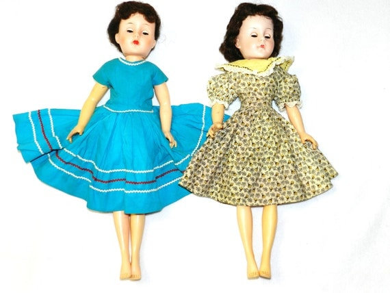 Lot of 2 - Vintage 1950s / 1960s Dolls