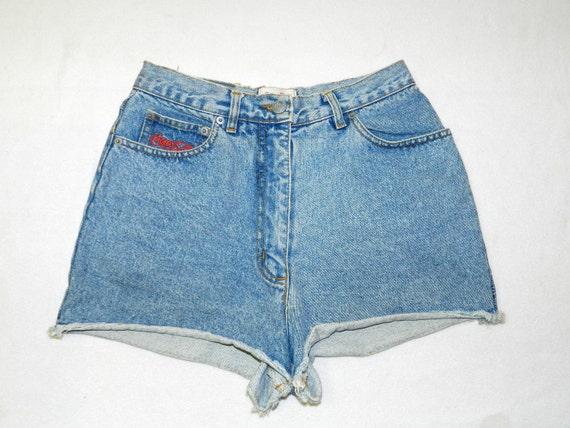Vintage 90s Grunge COCA COLA Collection Highwaisted Denim Shorts