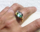Fire Polished Crystal Ring - Custom Size