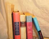 Vintage America Vintage Book Collection, 5 History Liturature Books, Home Decor, Interior Design, Vintage Book Decor