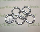 6 pcs per pack 20mm Smooth Solid Round Loop Antique Silver Finish Lead Free Pewter