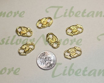16 pcs per pack 16x10mm Oval Link Double Loop Gold Finish Lead Free Pewter