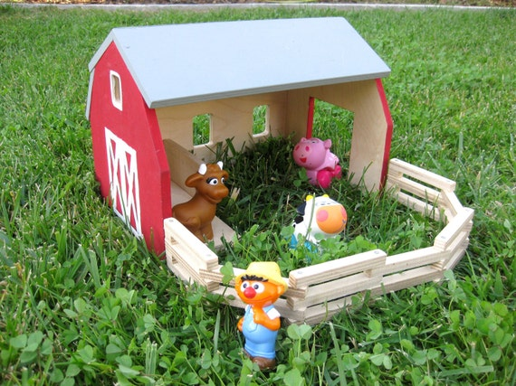 Barn Playset with Paint Kit (Wood-Burned Door)