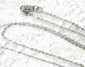 18-inch Fine Gauge Antiqued Silver Necklace Chain