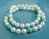 "7 Inch Elastic Beaded Bracelet Set of 2 - ""Stay Sweet"""