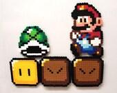 Perler Bead Magnet Sprites - Basic Super Mario Set of 5