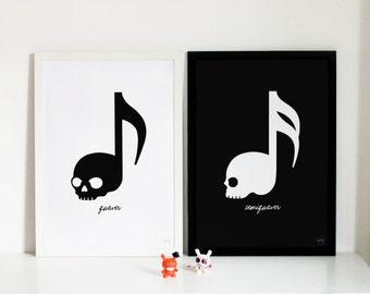 Ver.1 Skull Music Note (Quaver / Semiquaver)