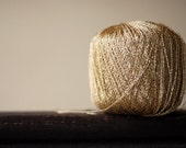 Golden yarn - lace weight - for crocheting and embroidery