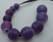 Purple Lush Ribbed Beads FHFteam Y3