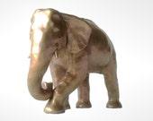 Elephant Sculpture, One Of A Kind Unique Hand Sculpted Sculpture, Iridescent Gold Colour