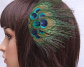 VILY Hair Peacock Feather Headband Fascinator, Peacock wedding Fascinator