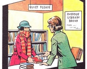"""Framed Bookplate from 1982 Mandy Annual - """"Overdue Library Books"""""""