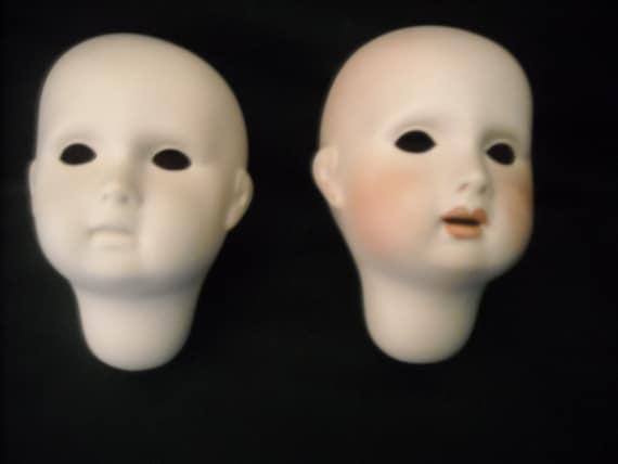 Porcelain Doll Heads Twins Boy Girl  Molds 1984