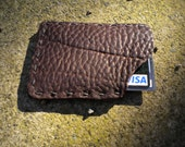 Bull Hide Hand Stitched Credit Card ID Holder