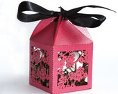"Laser cut favor box - ""Cherry Blossom"""