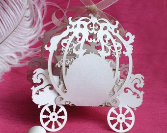 "Cinderella laser cut favor box - ""Fairy Tale"""