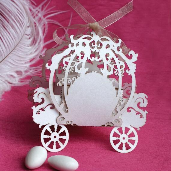 Cinderella Carriage Favor Boxes : Cinderella laser cut favor box fairy tale