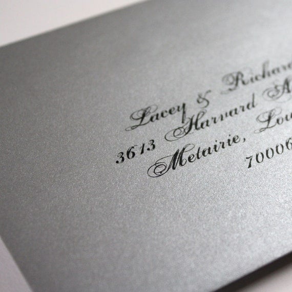 Personalized RSVP and return addresses