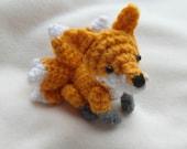 Kitsune, a nine-tailed fox - crochet PDF PATTERN - instructions