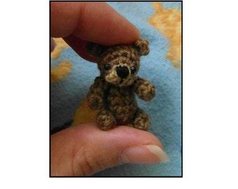 PATTERN ONLY Oh, so tiny Teddy bear crochet PATTERN