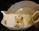 Lovely Vintage Floral Gravy Boat Crooksville China Co