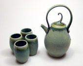 Copper Green Tea Set